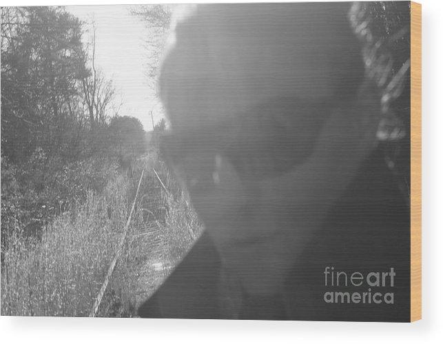 Train Tracks Wood Print featuring the photograph Self Solitude by Lauren Blazer