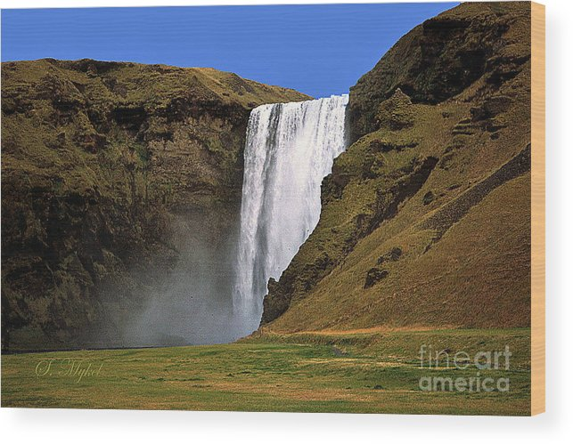 Iceland Wood Print featuring the photograph Seljalandsfoss - Iceland by S Mykel Photography