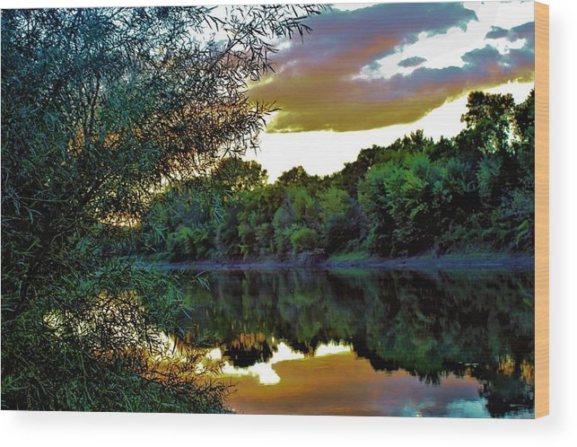 Sunset Wood Print featuring the photograph September Sunset by Beth Dale