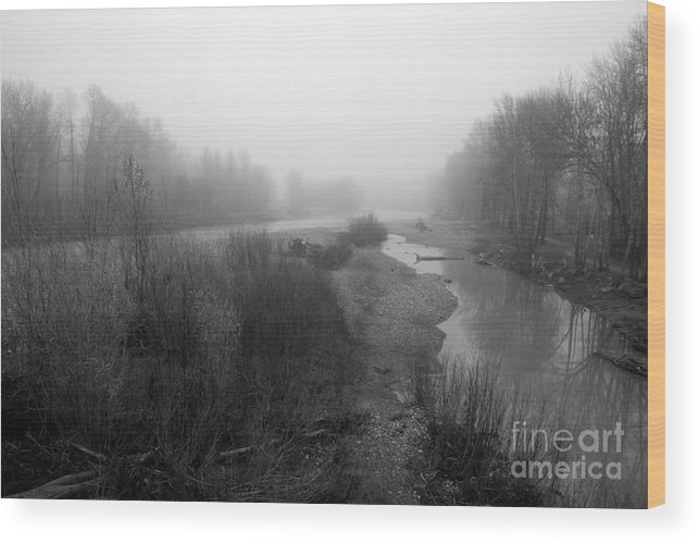 Sheep River Wood Print featuring the photograph Sheep River On A Foggy Day 5 by Cheryl Hurtak