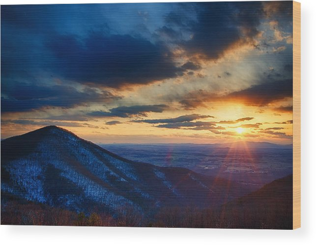 Park Wood Print featuring the photograph Shenandoah Sunset by Joan Carroll