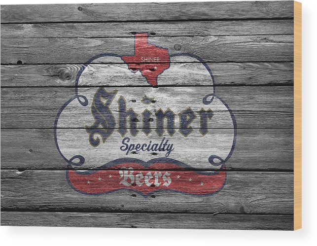 Shiner Specialty Wood Print featuring the photograph Shiner Specialty by Joe Hamilton