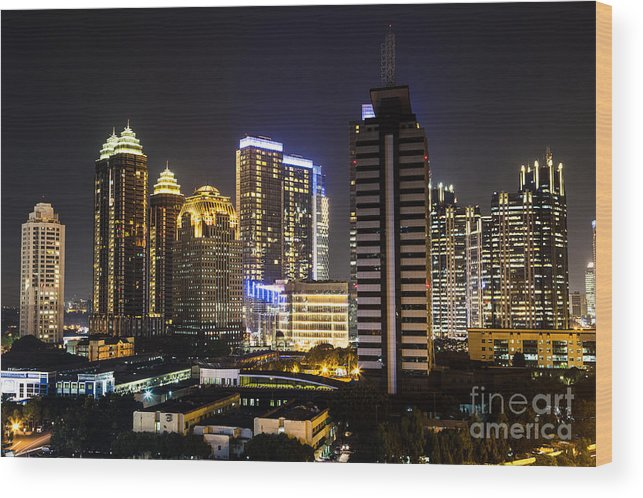 Indonesia Wood Print featuring the photograph Shining Jakarta by Asiadreamphoto