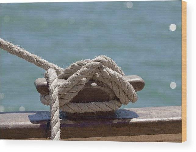 Ship Wood Print featuring the photograph Ships Rigging I by Michelle Wrighton