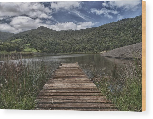 Lake Wood Print featuring the photograph Short Pier by Jeremy Bartlett