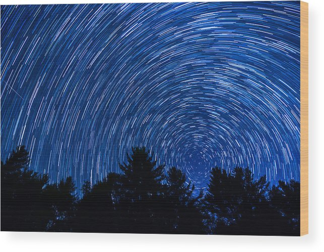 Outdoor Wood Print featuring the photograph Sky In Motion by Serge Skiba