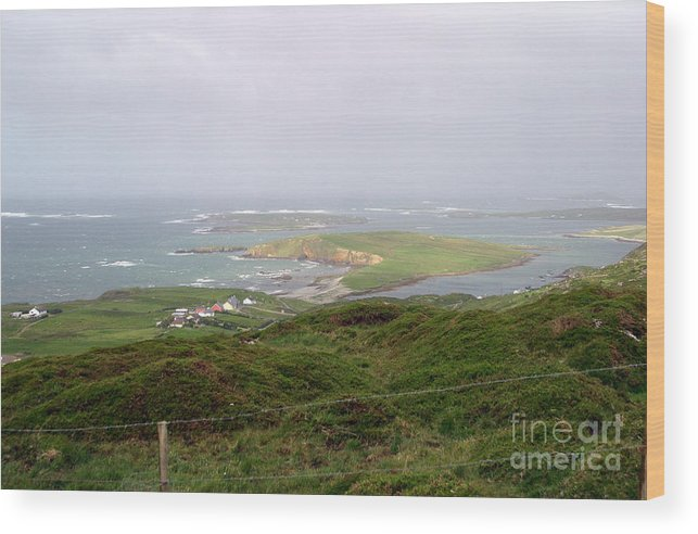 ireland Wood Print featuring the photograph Sky Road Clifden Ireland by Butch Lombardi