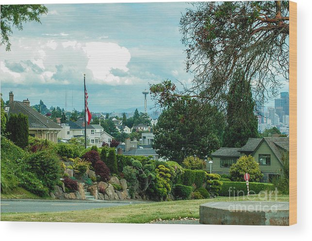 Sky Wood Print featuring the photograph Skyline For Magnolia 1 by Rich Priest