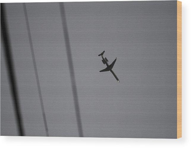 Jet Wood Print featuring the photograph Skyway 2 by Jacin Buchanan