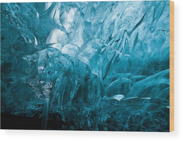 Ice Wood Print featuring the photograph Slippery When Wet by Jim Southwell