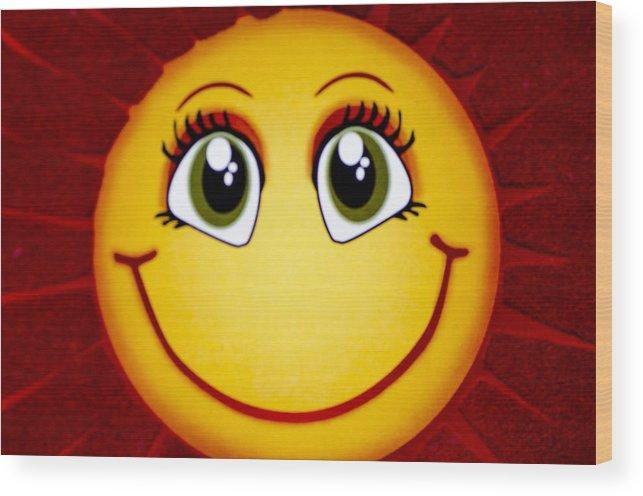 Sun Wood Print featuring the photograph Smiley Sun by Sotiris Filippou