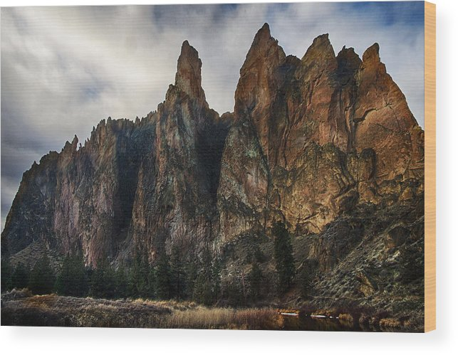 Smith Rock Wood Print featuring the photograph Smith Rock State Park 3 by Robert Woodward