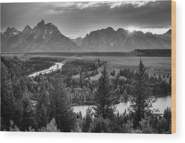 Grand Teton Wood Print featuring the photograph Snake River - Grand Teton National Park by Mike Walker