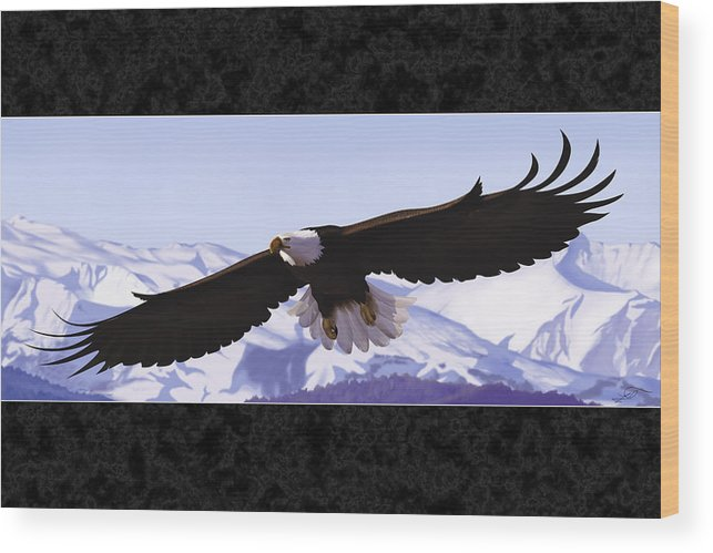 Bald Eagle Wood Print featuring the digital art Soaring Freedom by Lia Smazik