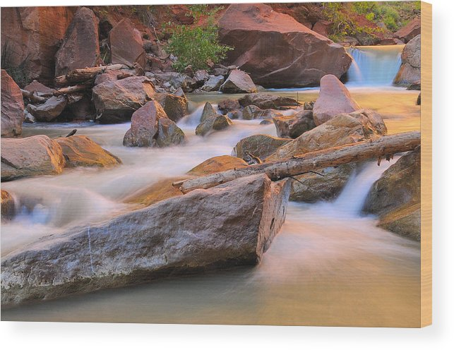 River Wood Print featuring the photograph Soft And Tranquil by Jim Southwell