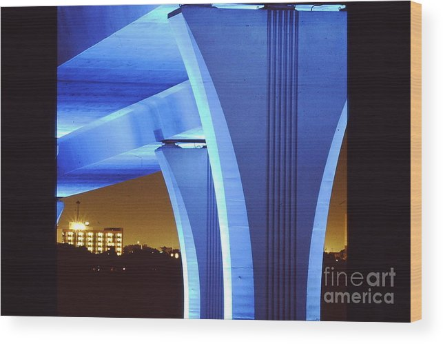 Bridge Wood Print featuring the photograph South Beach Bridge by Peter Dombrowski