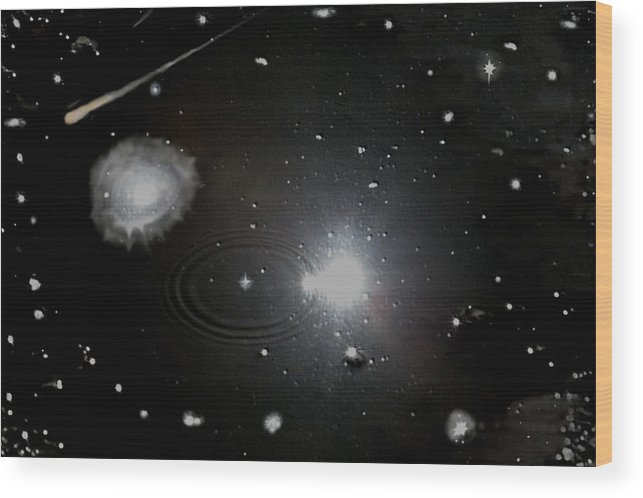Space Wood Print featuring the photograph Spacescape by Christopher Rowlands