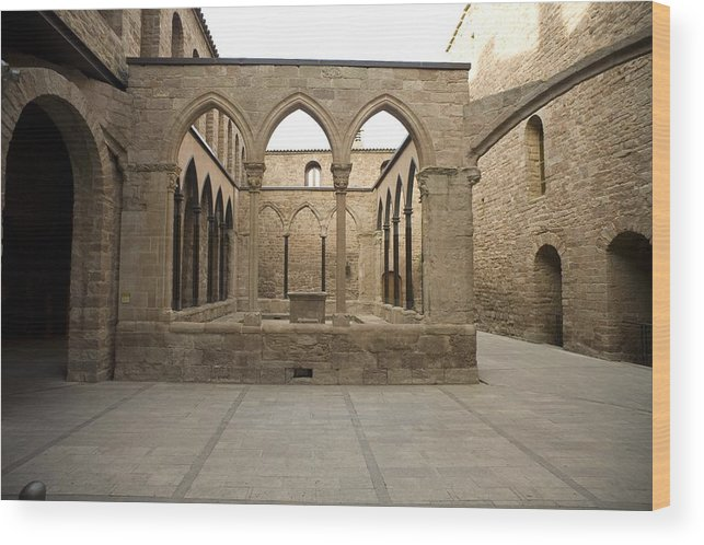 Europe Wood Print featuring the photograph Spain. Cardona. Castle And Collegiate by Everett