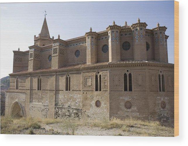 Colour Wood Print featuring the photograph Spain. Teruel. Montalb�n. Church by Everett