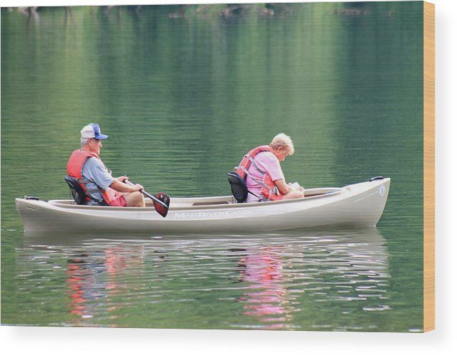 Reflections Wood Print featuring the photograph Spending Quality Time by Robin Vargo