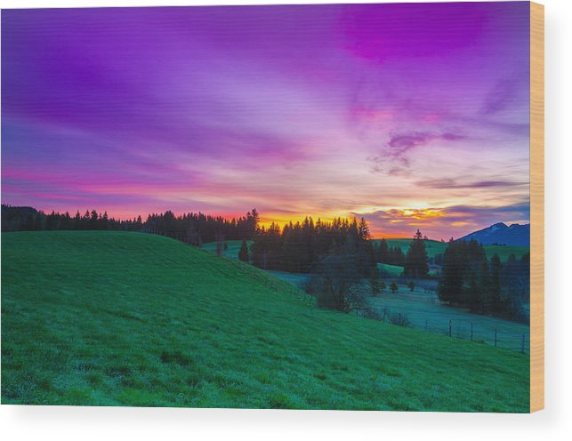 Sunrise Wood Print featuring the photograph Spring Sunrise by Andre Distel