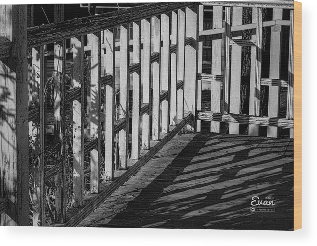 Abstract Wood Print featuring the photograph Squares by Evan Jones