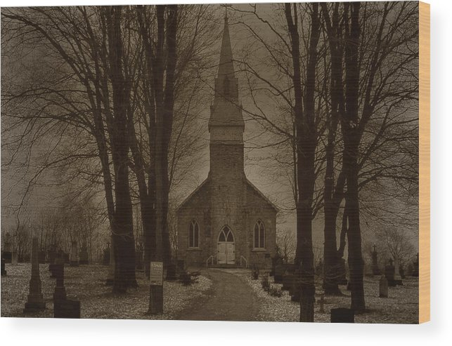 Church Wood Print featuring the photograph St Barnabys Catholic Church by Jim Vance