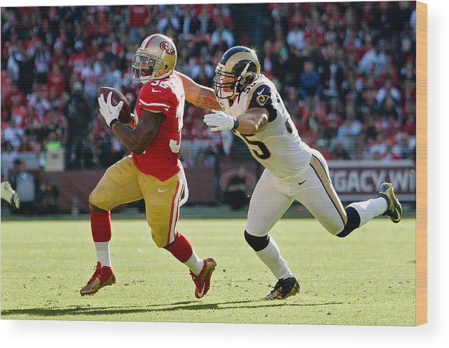 e69675abc79 Candlestick Park Wood Print featuring the photograph St. Louis Rams V San  Francisco 49ers by