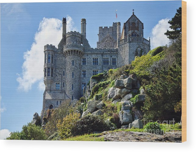 St Michaels Mount Wood Print featuring the photograph St Michael's Mount 1 by Susie Peek