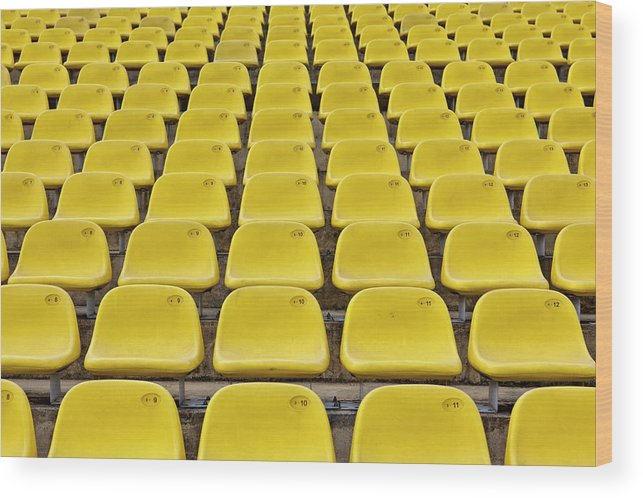 Event Wood Print featuring the photograph Stadium Seats by 35007