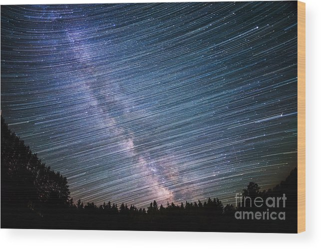 Star Dust Wood Print featuring the photograph Star Dust by Michael Ver Sprill