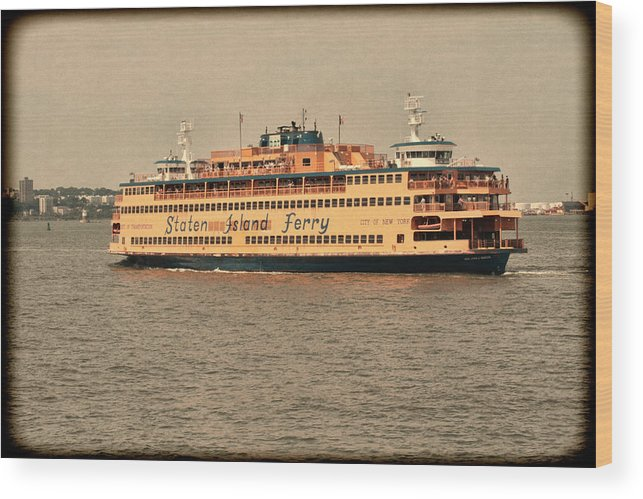 Staten Island Ferry Wood Print featuring the photograph Staten Island Ferry by Jonathan Davison