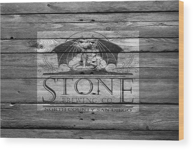 Stone Brewing Wood Print featuring the photograph Stone Brewing by Joe Hamilton