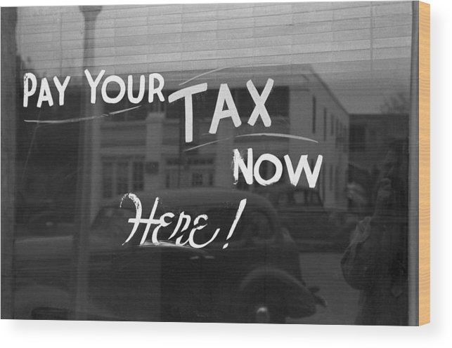 1939 Wood Print featuring the photograph Storefront Sign, 1939 by Granger