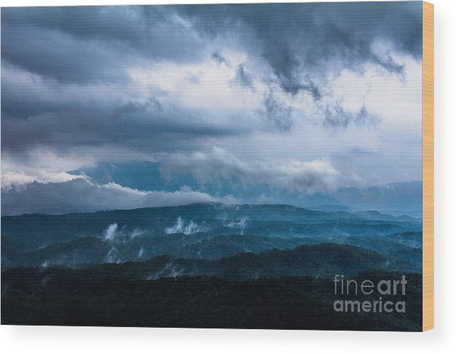 Storm Wood Print featuring the photograph Stormy Weather by Ursula Lawrence
