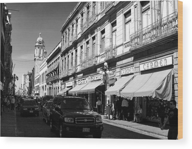Mexico Wood Print featuring the photograph Streets Of Puebla 9 by Lee Santa