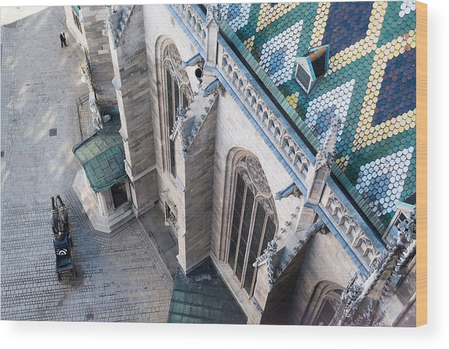 St. Stephan Wood Print featuring the photograph St.stephan Cathedral - Vienna - Austria by Frank Gaertner