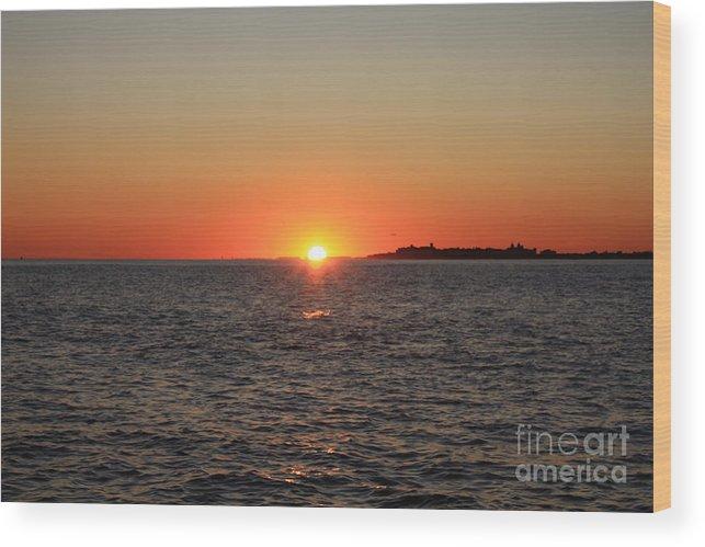 Summer Sunset Wood Print featuring the photograph Summer Sunset by John Telfer