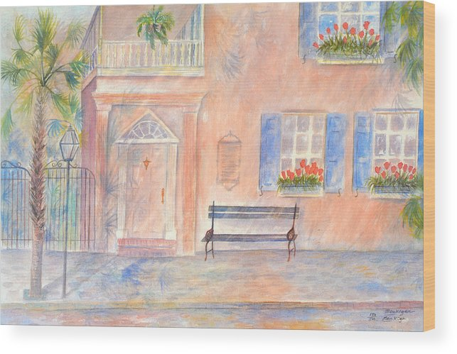 Charleston; Low Country; Palmetto Tree Wood Print featuring the painting Sunday Morning In Charleston by Ben Kiger