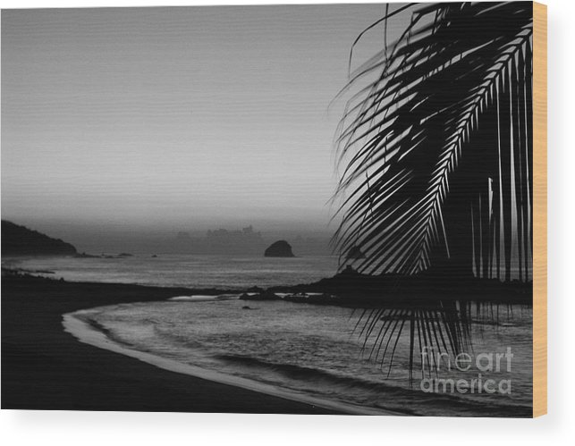 Landscape Wood Print featuring the photograph Sunrise On The Costa Chica by Mychelle Tremblay