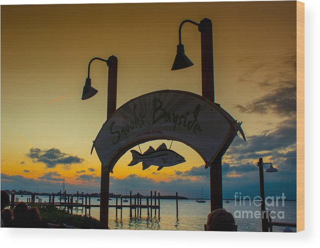 Sand Wood Print featuring the photograph Sunset At Snooks Bayside by Rene Triay Photography