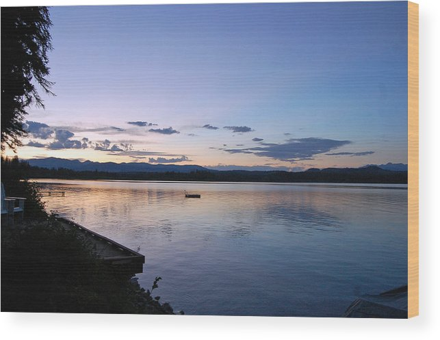 Sunset Wood Print featuring the photograph Sunset At The Cabin by Christina Jo Horton