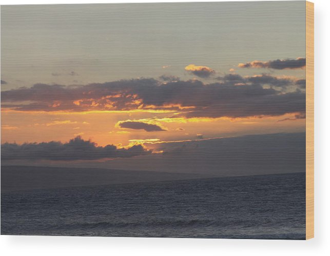 Pacific Ocean Wood Print featuring the photograph Sunset Over The Mountain by Dick Willis