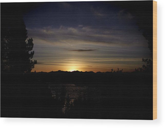 Sunset Wood Print featuring the photograph Sunset Yellowstone by Jolie Chantharath