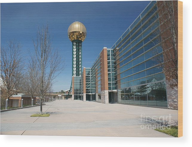 Travel Wood Print featuring the photograph Sunsphere Knoxville Tn by Ules Barnwell