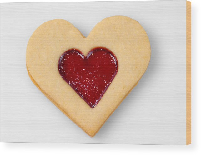 Sweet Heart Symbol For Love Valentine Relationship Wood Print By