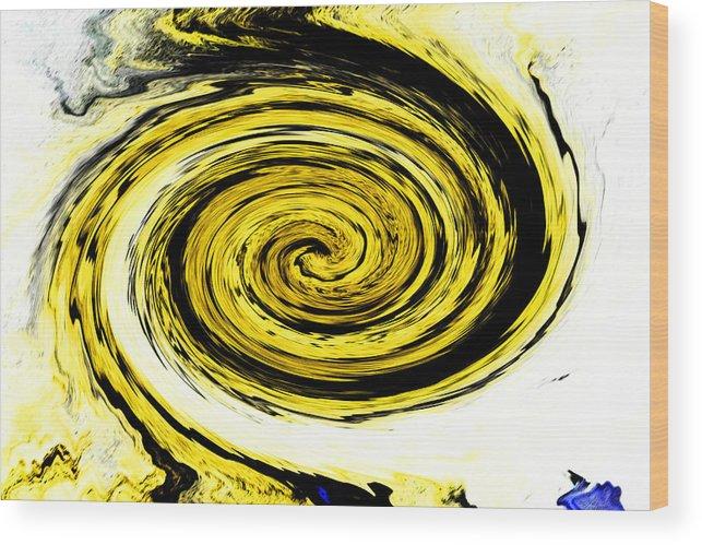 Ambience Wood Print featuring the digital art Swish 19 by Cyryn Fyrcyd