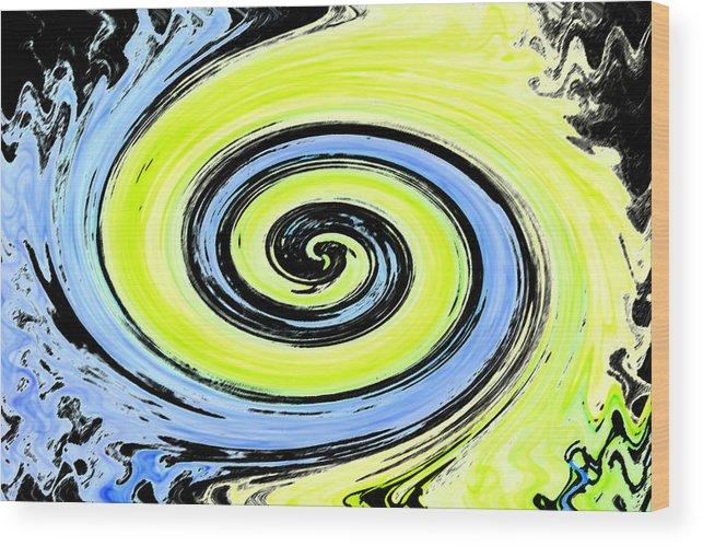 Ambience Wood Print featuring the digital art Swish 23 by Cyryn Fyrcyd