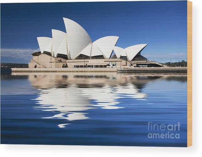 Sydney Opera House Wood Print featuring the photograph Sydney Icon by Sheila Smart Fine Art Photography