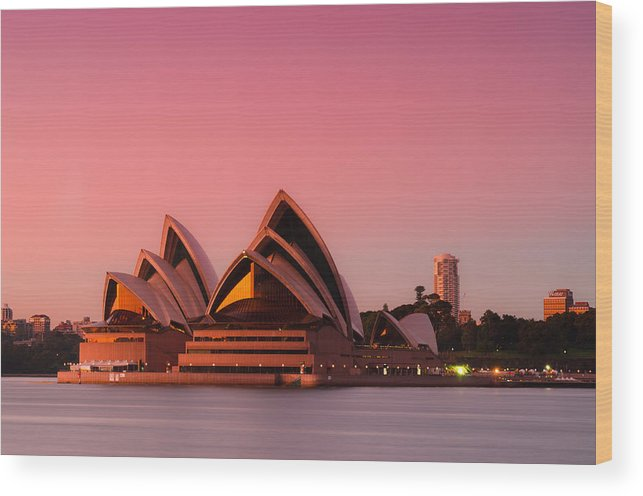 Sydney Wood Print featuring the photograph Sydney Opera House by Andre Distel